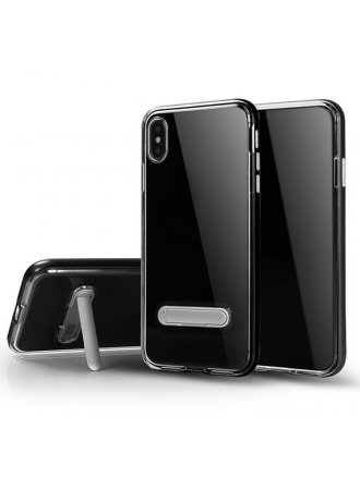 Apple iPhone xs Max Kick Stand Clear Black