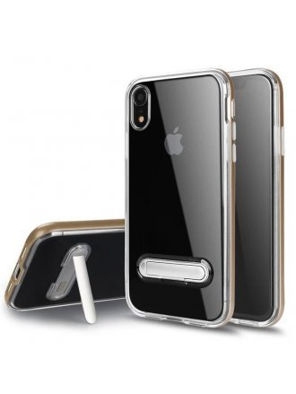 Apple iPhone xs Max Kick Stand Clear Gold