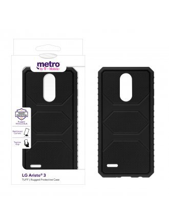 Metro by T-Mobile LG Aristo 3 TUFF Rugged Protective Case – Black