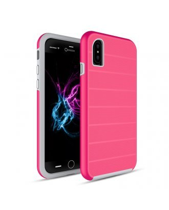 iPhone X Heavy Duty Armor Case Belt Clip Holster Case Hot Pink
