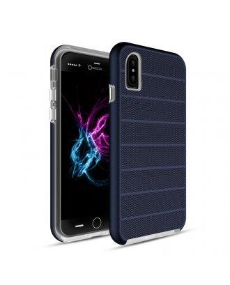 iPhone X Heavy Duty Armor Case Belt Clip Holster Case Navy Blue