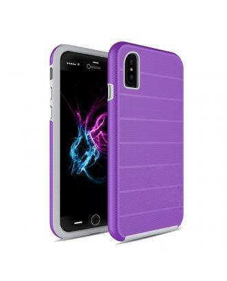iPhone X Heavy Duty Armor Case Belt Clip Holster Case Purple