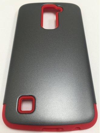 LG K10  ARMOR CASE gray red