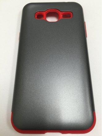 Samsung J7 2015  ARMOR CASE gray red