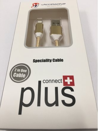 USB Cable for GLUCB021 (2A cable) 2 in 1 USB dat cable front side iPhone5     back side Micro