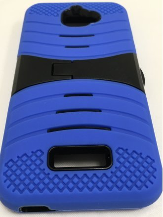 MOTO E4(USA) Kickstand Case  Black Blue