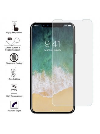 iPhone X / XS 2.5d 0.3mm Clear Tempered Glass